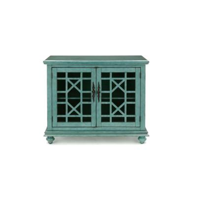 Jules Small Teal Spaces TV Stand