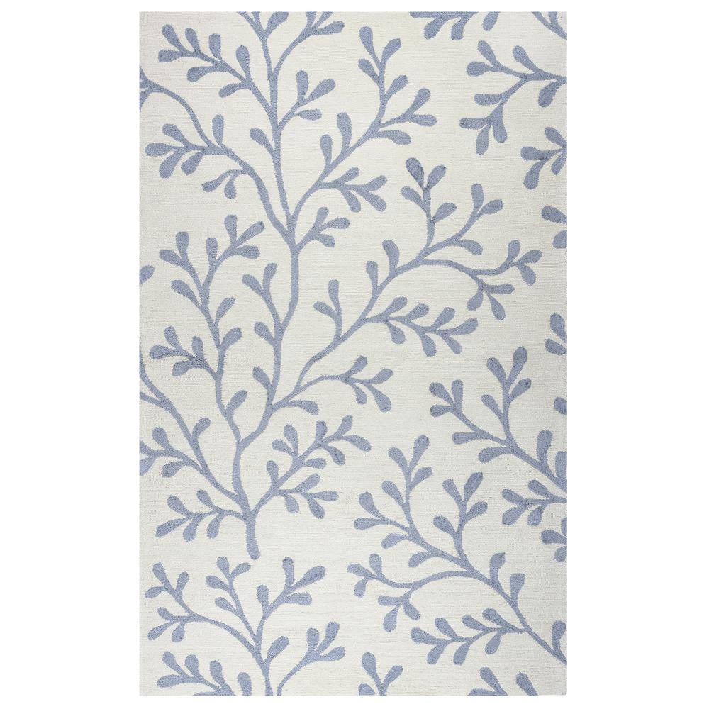 Rizzy Home Azzura Hill Ivory Floral 3 ft. 6 in. x 5 ft. 6 in ...