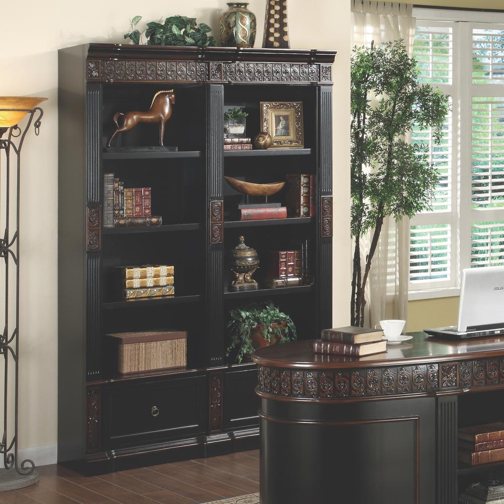 Rowan Espresso and Red Brown Bookcase