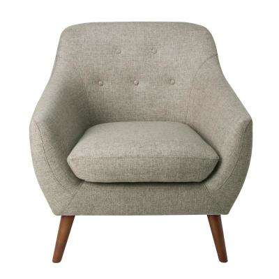 Textured Gray Monroe Modern Tufted Accent Chair