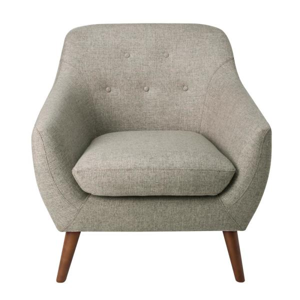Homepop Textured Gray Monroe Modern Tufted Accent Chair