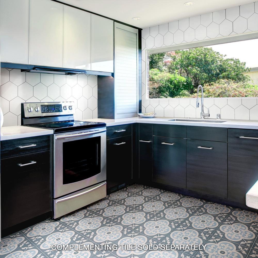 Merola Tile Hexatile Glossy Blanco Ceramic Wall Tile 7 In X 8 In Tile Sample