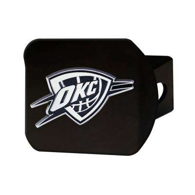 NBA Oklahoma City Thunder Class III Black Hitch Cover with Chrome Emblem