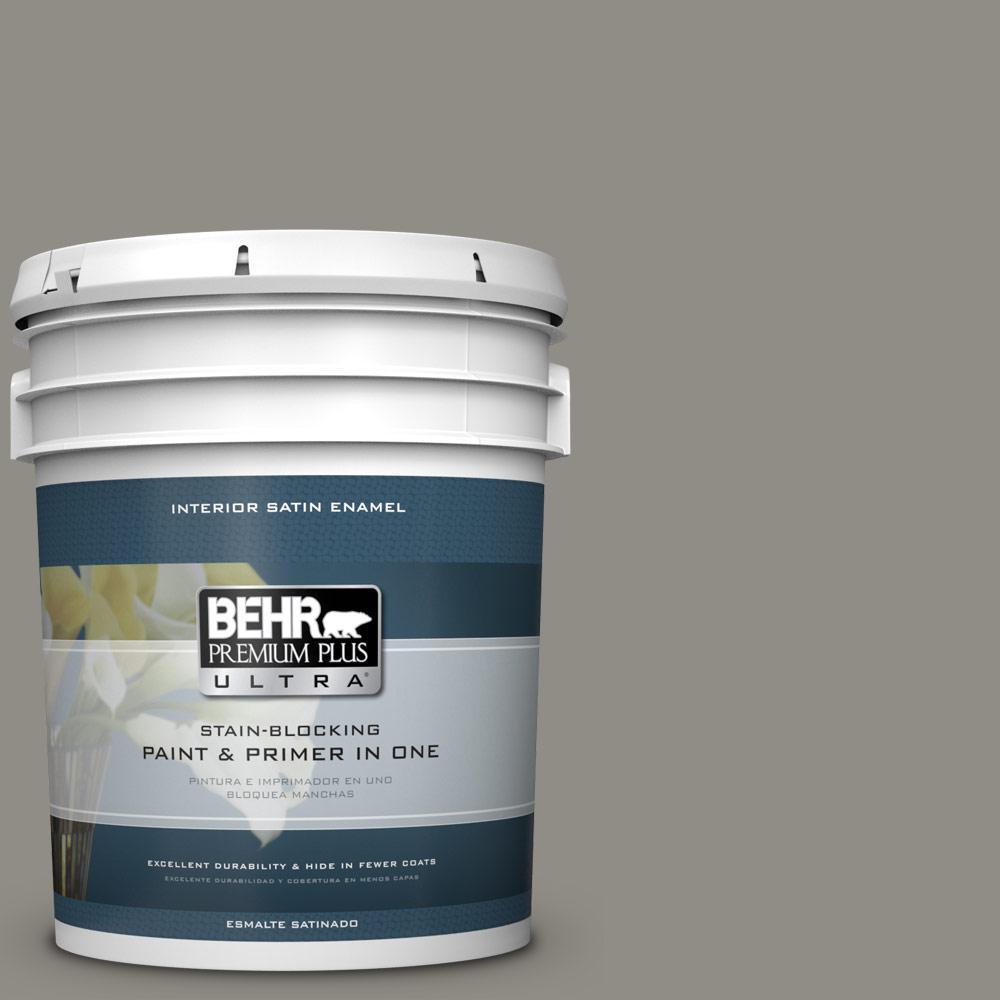 5 gal. #PPU24-08 Parador Stone Satin Enamel Interior Paint