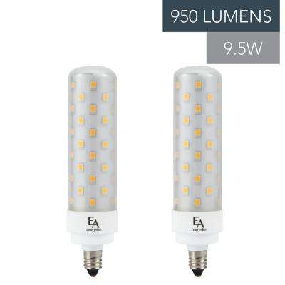 75-Watt Equivalent E11 Base Dimmable 3000K LED Light Bulb Soft White (2-Pack)