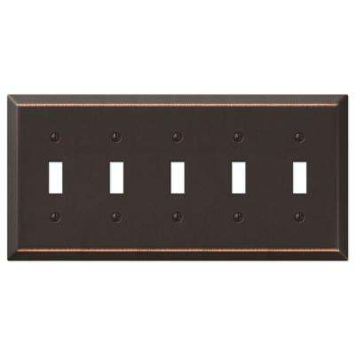 Century 5 Toggle Wall Plate - Aged Bronze
