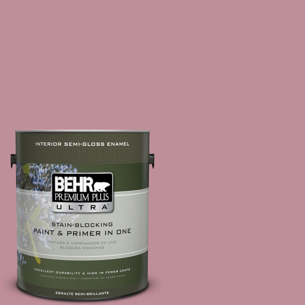 1-gal. #S130-4 Cherry Juice Semi-Gloss Enamel Interior Paint