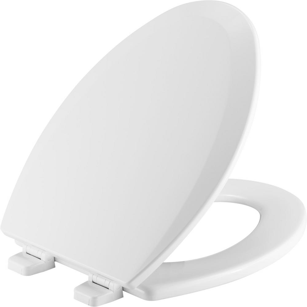 Church Church Elongated Closed Front Toilet Seat in White