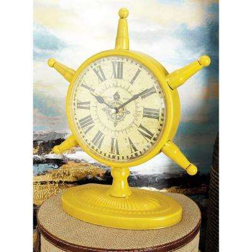 11 in. x 9 in. 6-Spoked Ship's Wheel Table Clocks (Set of 4)