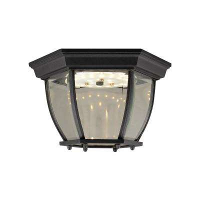 Canterbury II Black Integrated LED Outdoor Flush Mount