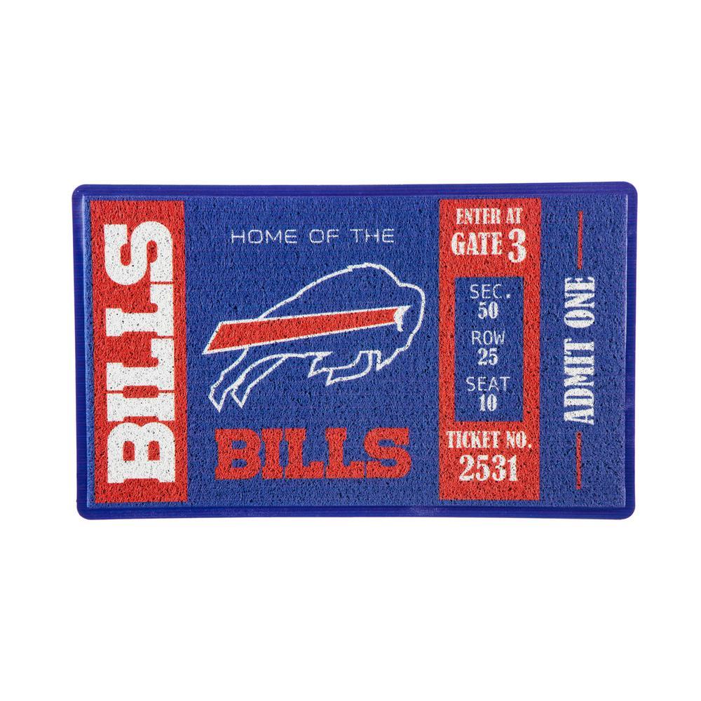 Buffalo Bills 30 in. x 18 in. Vinyl Indoor/Outdoor Turf Floor Mat