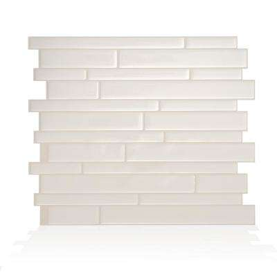 Milano Avorio 11.55 in. W x 9.63 in. H Beige Peel and Stick Decorative Mosaic Wall Tile Backsplash (6-Pack)