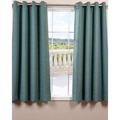 Semi-Opaque Jadite Bellino Grommet Blackout Curtain - 50 in. W x 63 in. L (Panel)