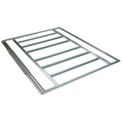 8 ft. W x 5 ft. D HDG Galvanized Steel Floor Frame Kit for Admiral and Viking Sheds (Floor Material Not Included)