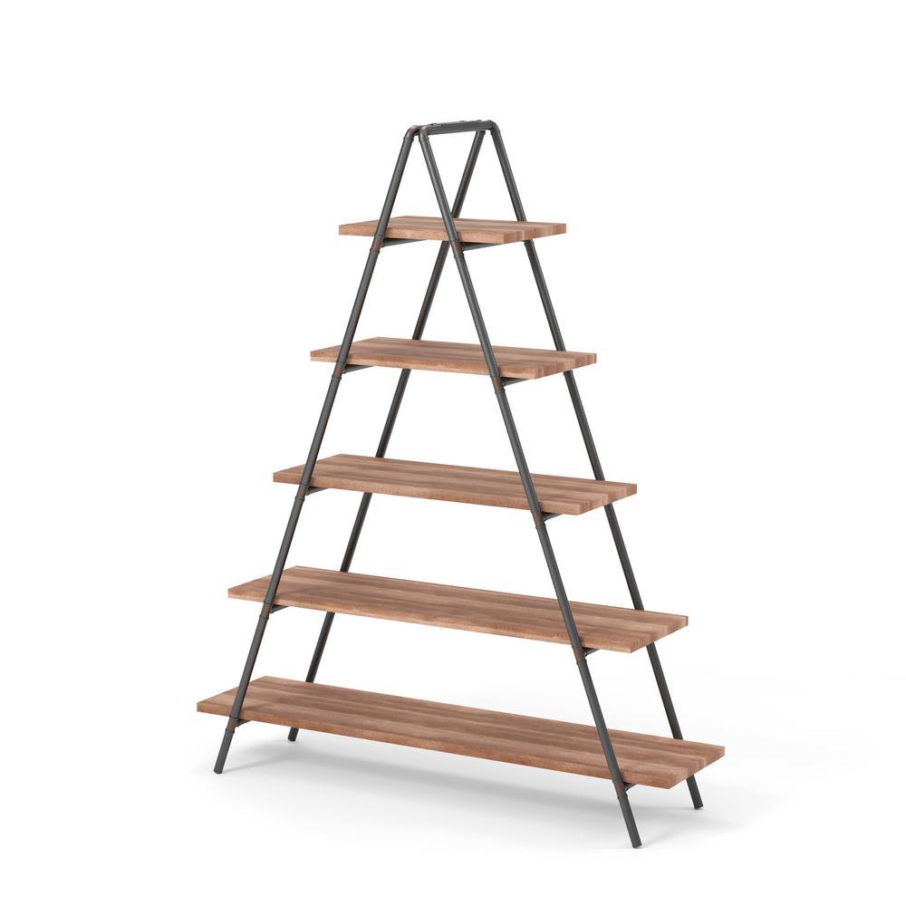 Ethel Bronze 5-Shelf Ladder Bookshelf