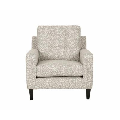 Brentwood Gray Animal Print Polyester Accent Chair