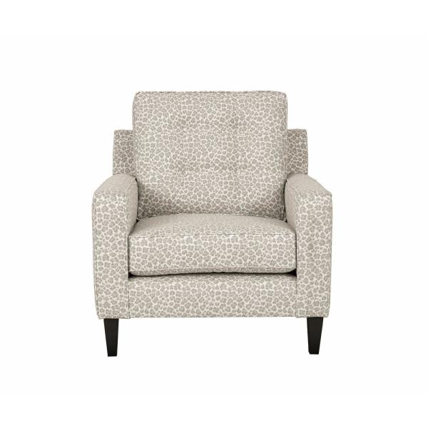 Progressive Furniture Brentwood Gray Animal Print Polyester Accent Chair