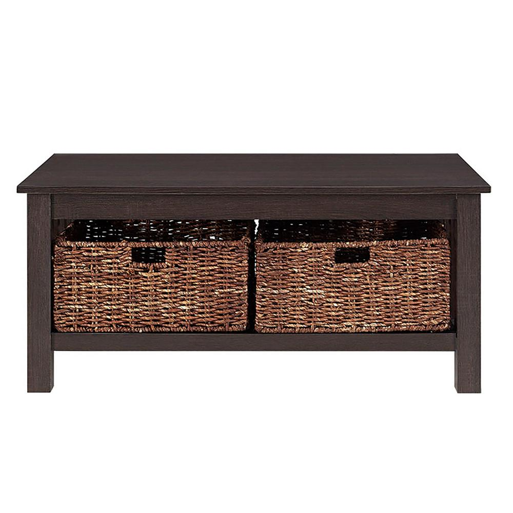 Walker Edison Furniture Company Stanford Espresso Storage Coffee Table