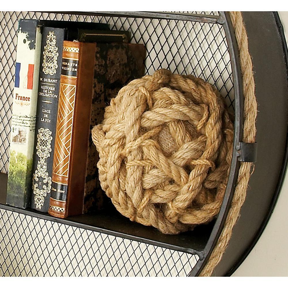 Coastal Living Jute Brown Cotton Rope Decorative Balls (Set of 3)