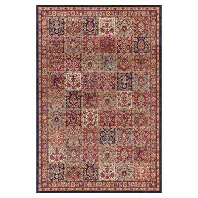 Jewel Panel Red 8 ft. x 10 ft. Area Rug