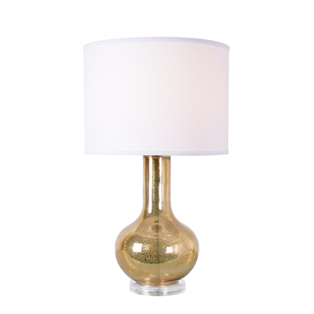 Kenroy Home Golden Sea 27 In Gold Mercury Glass Table Lamp