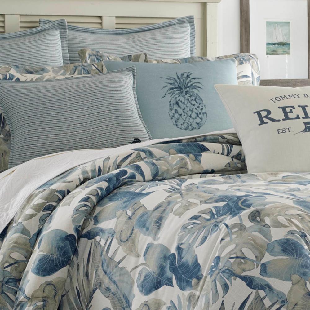 Raw Coast Blue Botanical Cotton Comforter Set