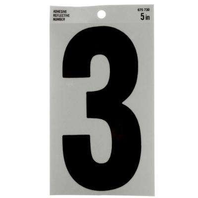 5 in. Mylar Reflective Number 3