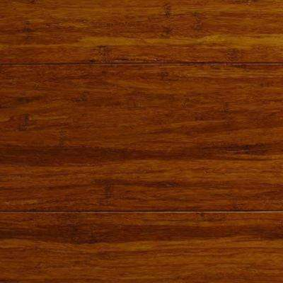 Take Home Sample - Strand Woven Antiqued Harvest Click Lock Bamboo Flooring - 5 in. x 7 in.