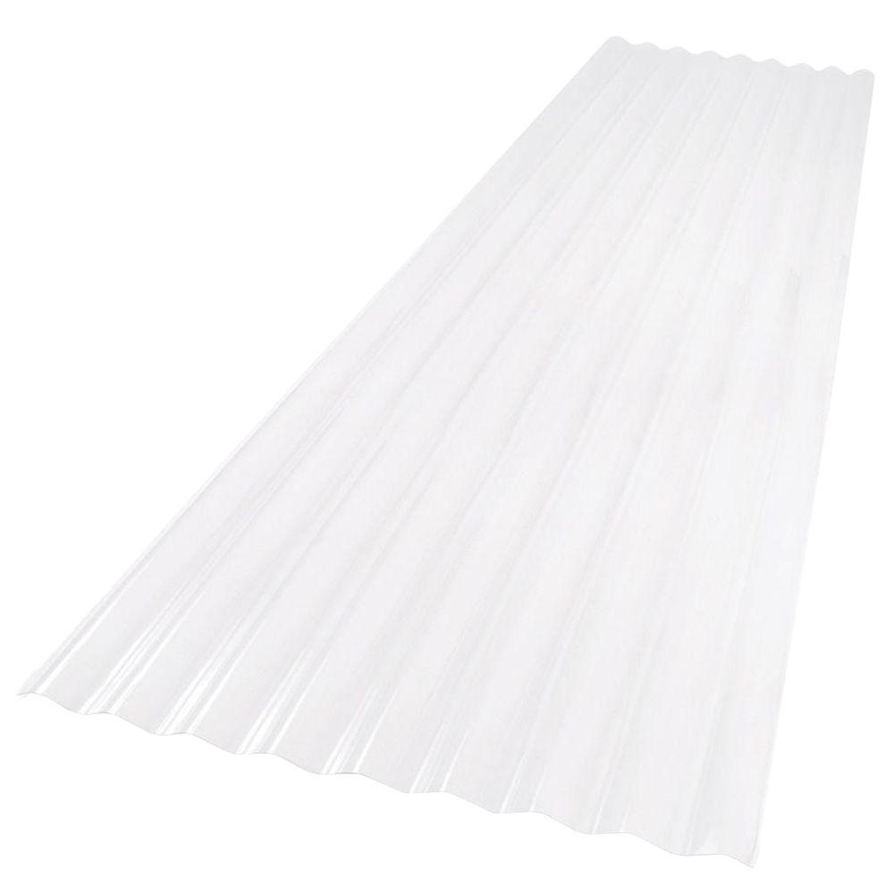 Palruf 26 in  x 12 ft  Clear PVC Roofing Panel