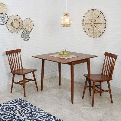 Connor 3-Piece Brown Drop Leaf Dining Table Set