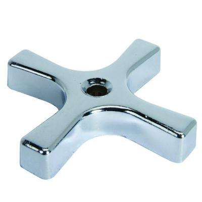 Replacement Cross Handle for Multi-Turn Water Valve in Chrome