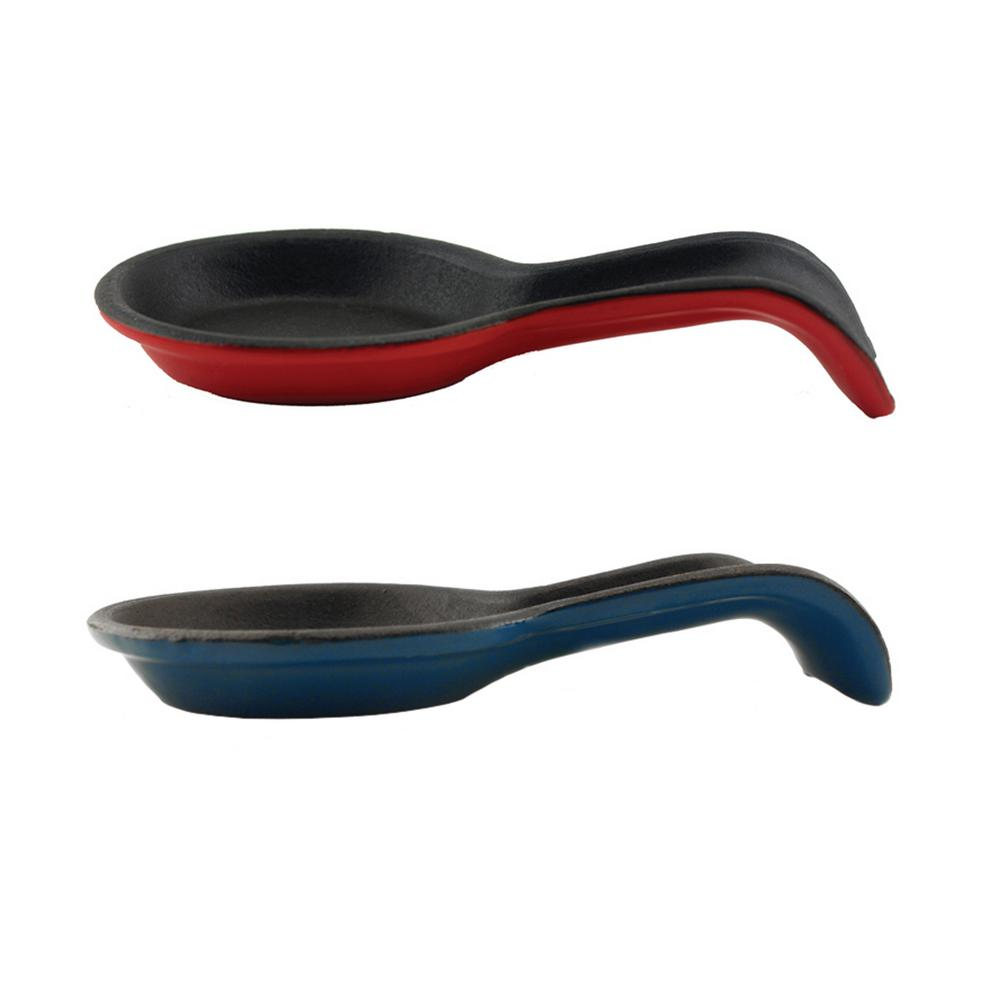Cast Iron Multi-Color Spoon Rest (Set of 2)