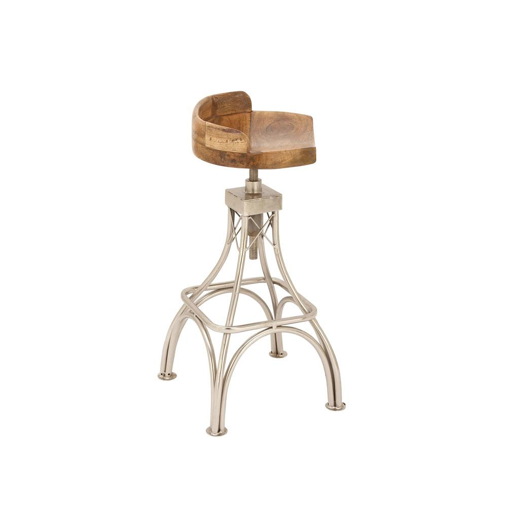 32 in brown 4 pronged bar stool