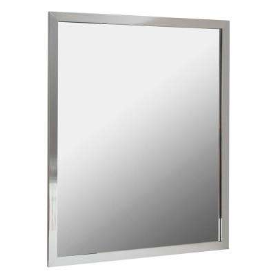 Reflections 36 in. W x 30 in. H Aluminum Wall Framed Mirror in Silver