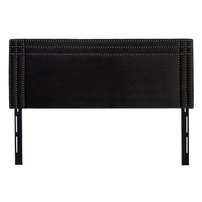 Shea Dark Charcoal Grey King Headboard