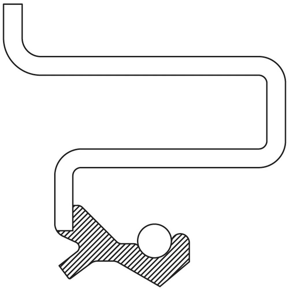 Left Auto Trans Output Shaft Seal fits 2009 Suzuki XL-7
