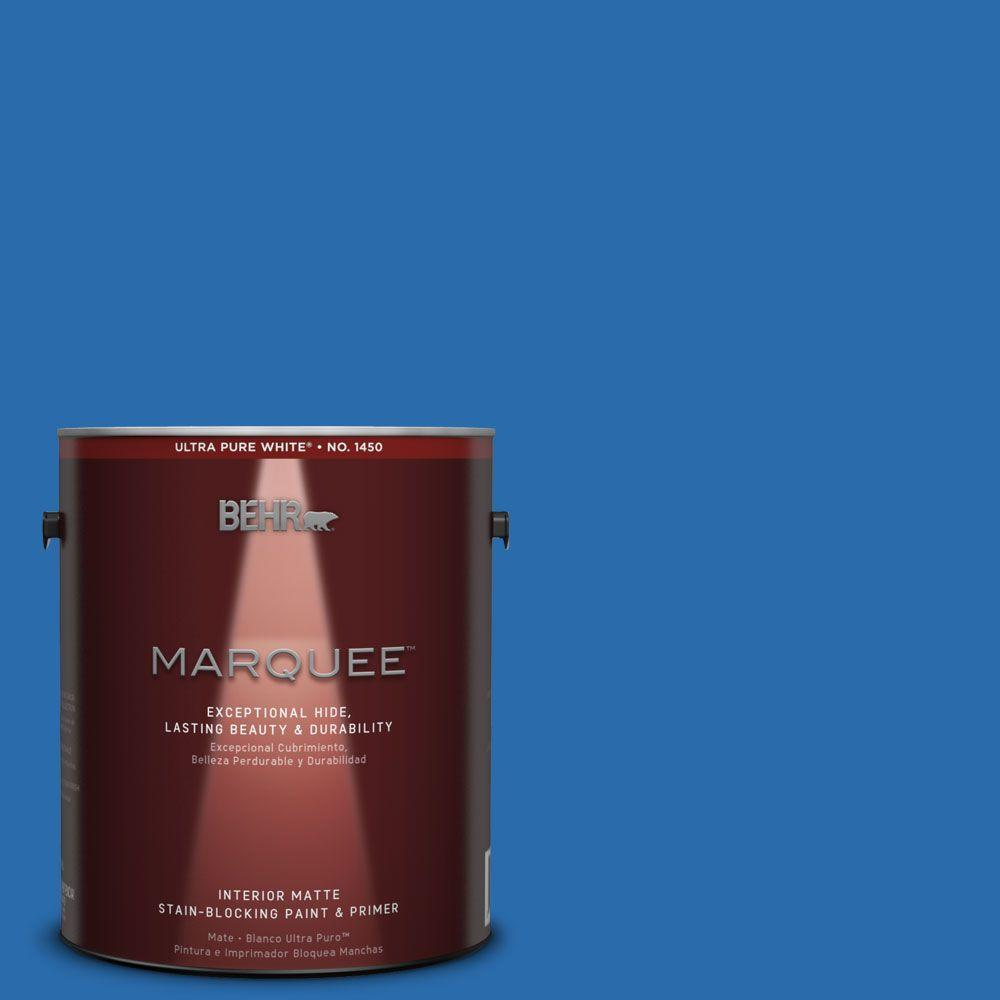 BEHR MARQUEE 1 Gal. #MQ4 24 Electric Blue Matte Interior Paint And Primer