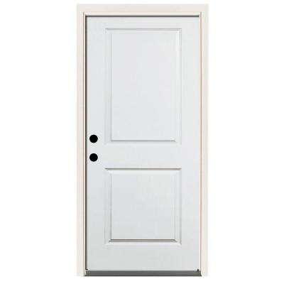 home depot prehung exterior door. Premium 2 Panel Square Primed Steel Prehung Front Door Exterior  Doors Without Glass The Home Depot
