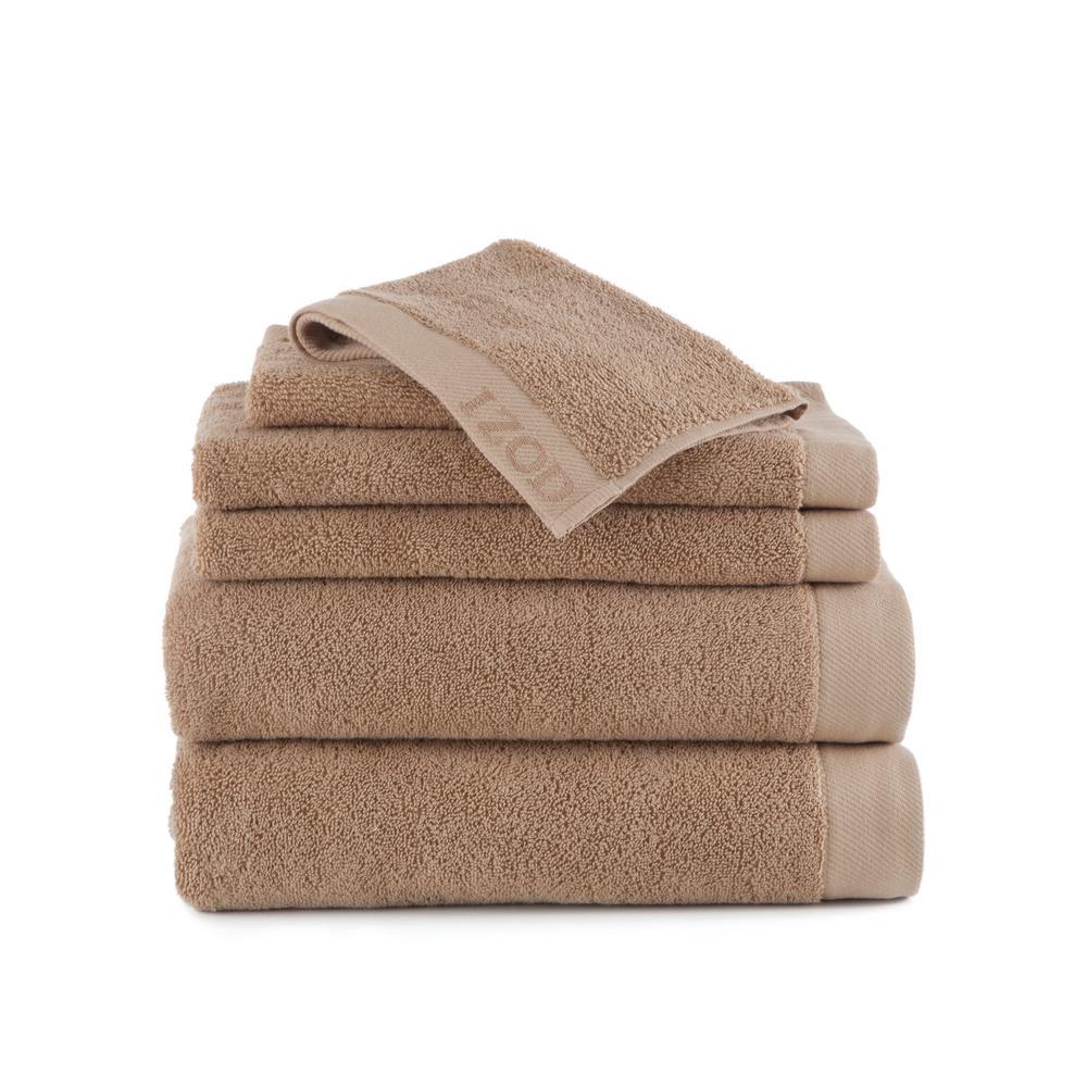Classic 6-Piece Cotton Bath Towel Set in Cornstalk