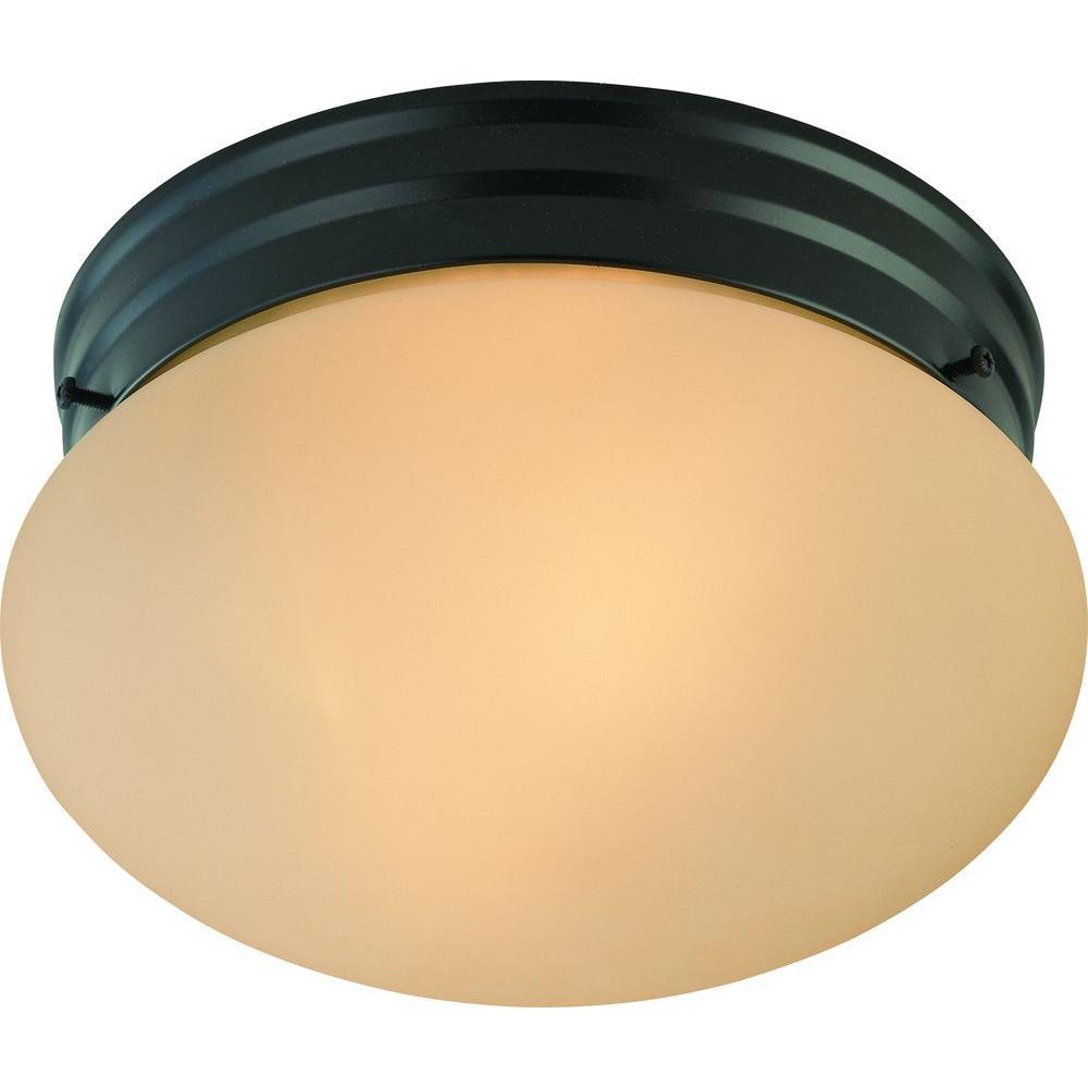 Light Fixtures Trinidad: Volume Lighting Trinidad 2-Light Antique Bronze Semi-Flush