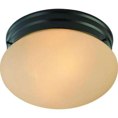 Trinidad 2-Light Antique Bronze Semi-Flush Mount
