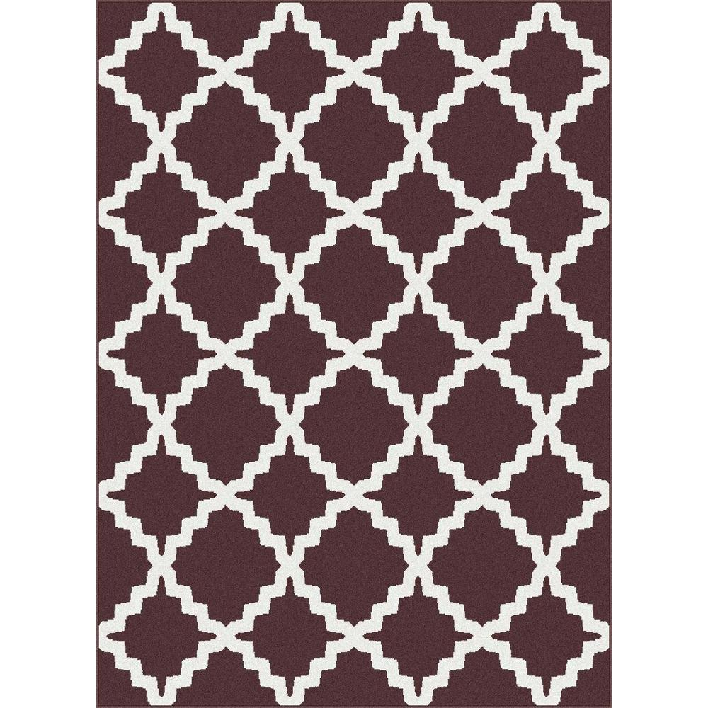 Tayse Rugs Metro Brown 5 ft. 3 in. x 7 ft. 3 in. Contemporary Area Rug