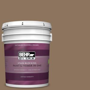 Behr Ultra 5 Gal 700d 6 Belgian Sweet Eggshell Enamel Interior Paint And Primer In One 275305 The Home Depot