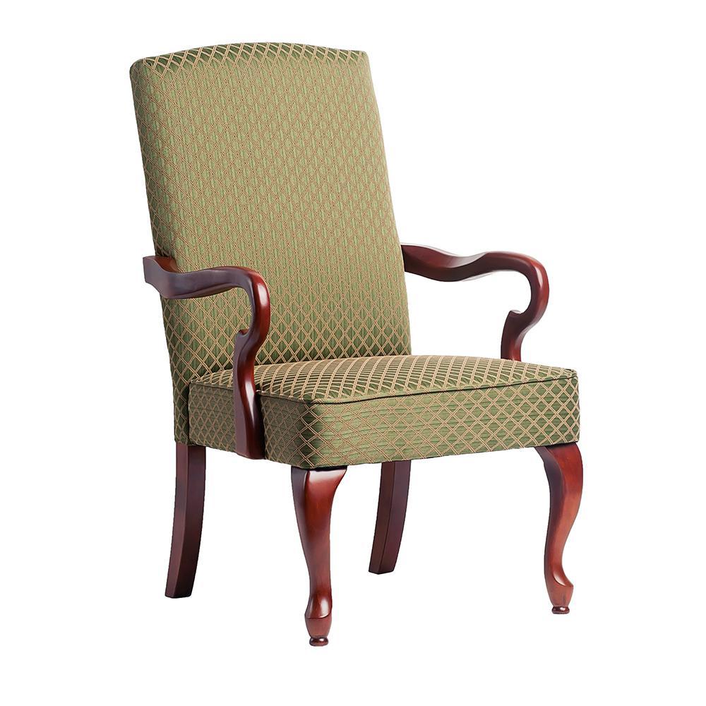 Derby Green Gooseneck Arm Chair