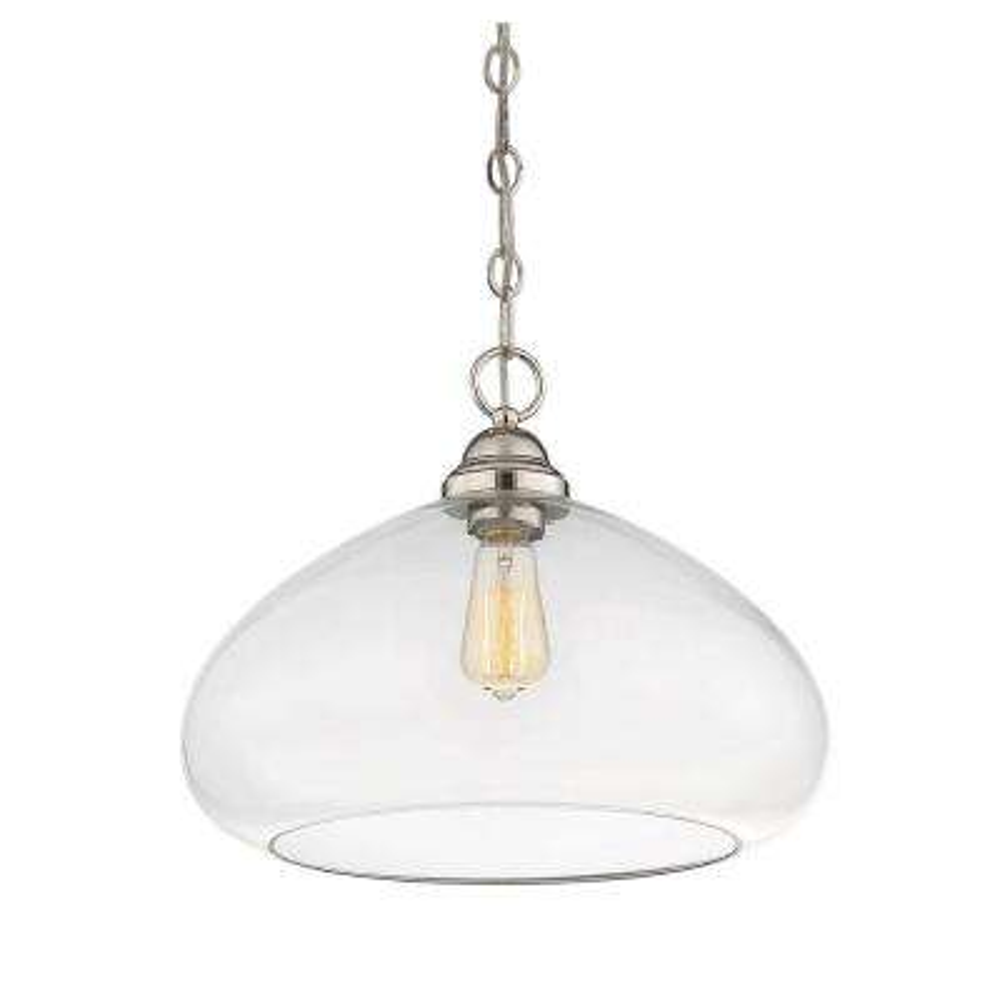 1-Light Polished Nickel Pendant