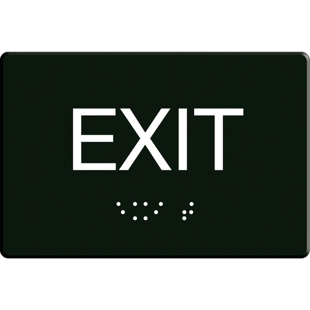 6 In X 9 In Self Adhesive Exit Sign 843480 The Home Depot