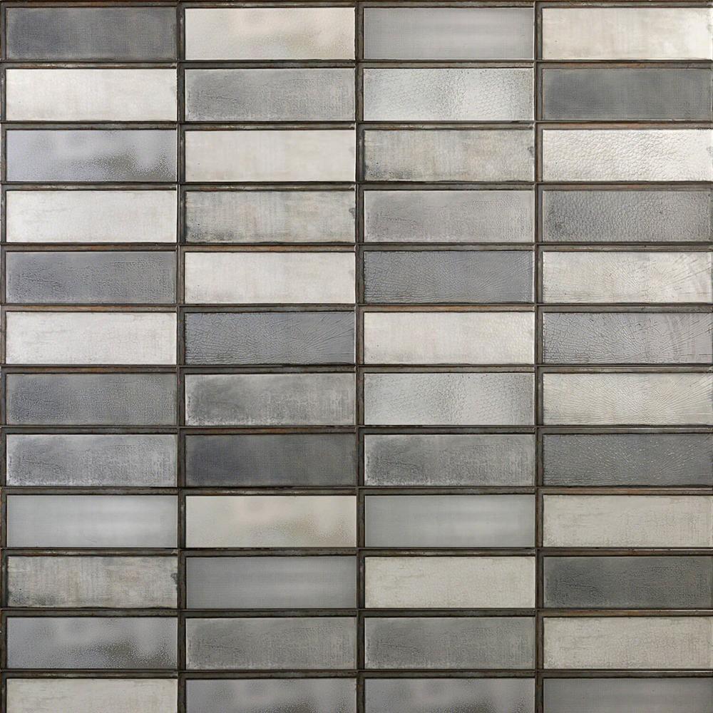 Piston Industrial Dark Gray 4 in. x 12 in. 7mm Matte Ceramic Subway Wall Tile (34-piece 10.97 sq. ft. / box)