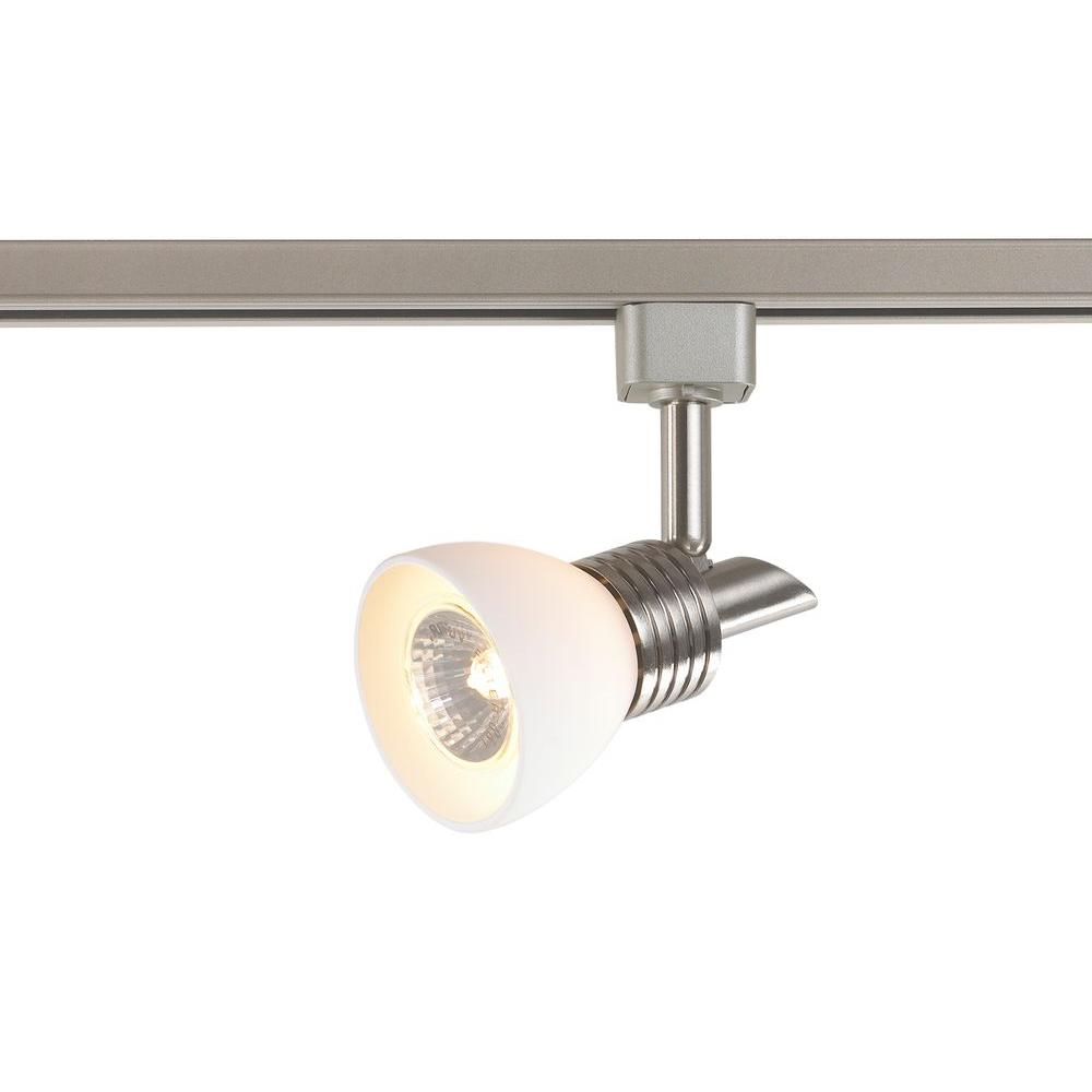 White Pendant Track Lighting: Commercial Electric 1-Light White Glass Linear Track