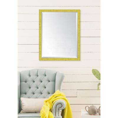 25 in. x 31 in. Framed Yellow Mirror