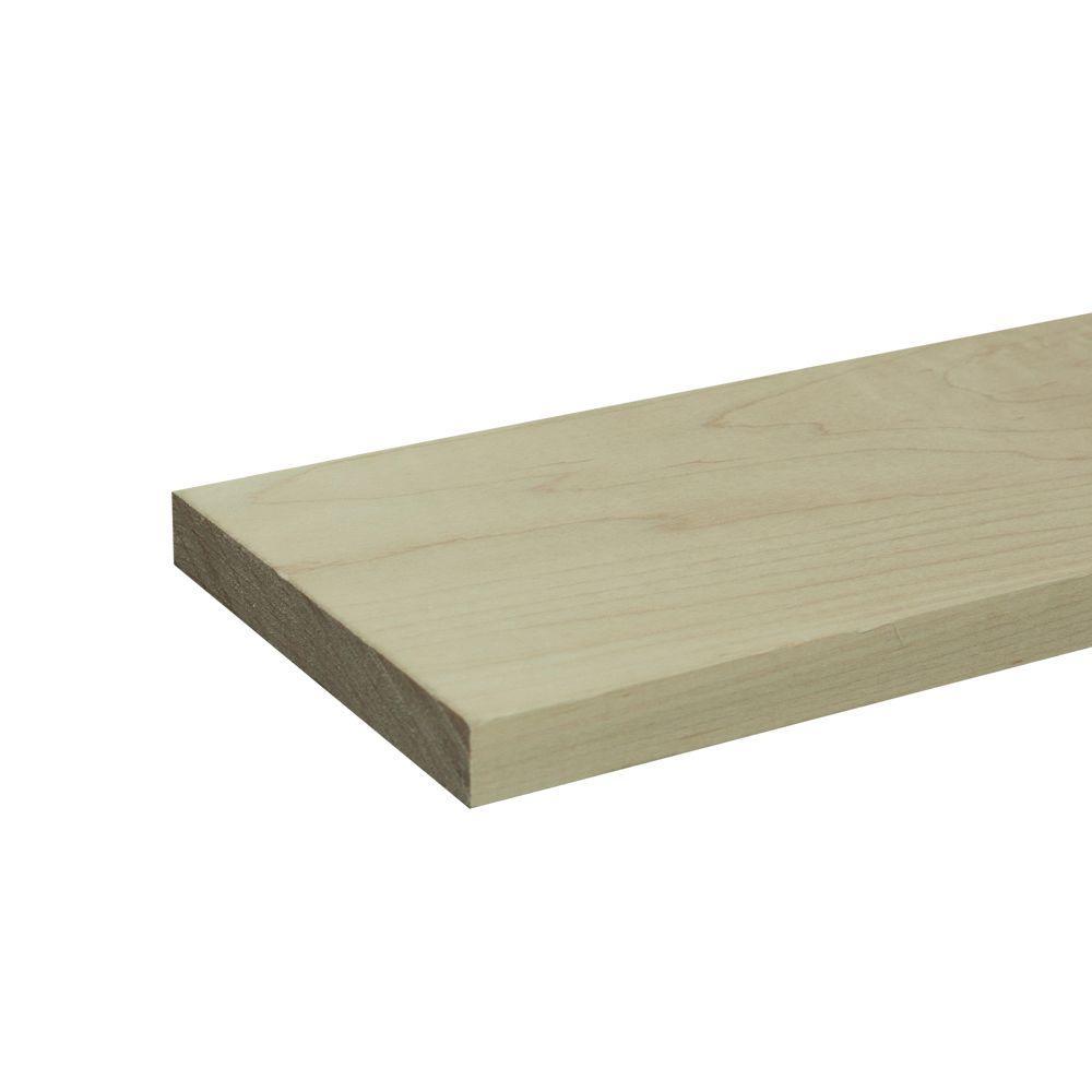 1 in. x 6 in. x 8 ft. S4S Maple Board